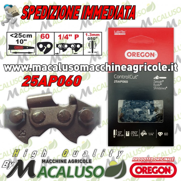 Catena Oregon 1/4 sp.1,3 maglie 60 25AP060E motosega zenoah echo carving
