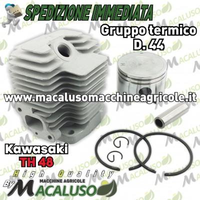 Cilindro pistone adattabile decespugliatore Kawasaki TH48 d 44 gruppo termico