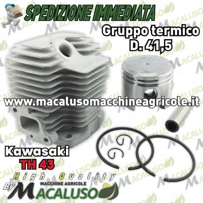 Cilindro pistone adattabile decespugliatore Kawasaki TH43 d 41,5 gruppo termico th 43