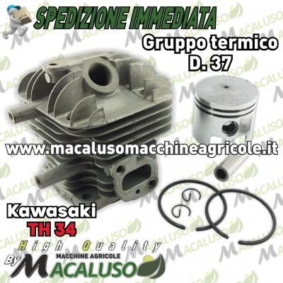 Cilindro pistone adattabile decespugliatore Kawasaki TH34 d 37 gruppo termico th 34