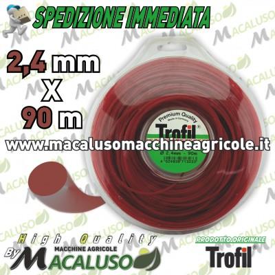 Filo nylon Trofil tondo mm.2,4 x 90 mt. professionale decespugliatore rifinitura prato