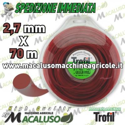 Filo nylon Trofil tondo mm.2,7 x 70 mt. professionale decespugliatore rifinitura prato