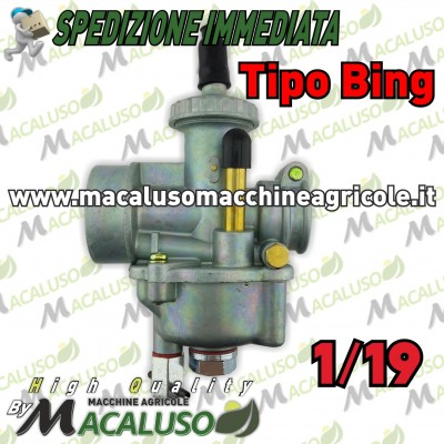 Carburatore tipo Bing 1/19 motore Jlo brumi beta