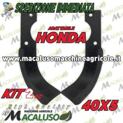 2 Zappette adattabile motozappa Honda 40x5 zappa zappetta fresa lama kit serie