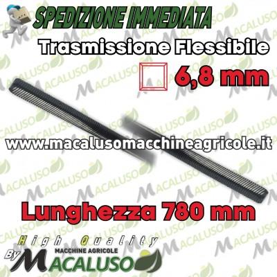Flessibile decespugliatore Echo cm. 78 quadro mm. 6,8 diametro mm.8 trasmissione mm 780