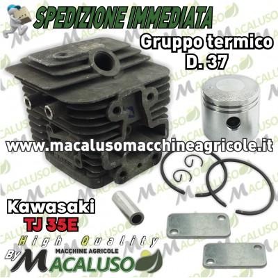 Cilindro pistone adattabile decespugliatore Kawasaki TJ35E d 37 gruppo termico tj 35 E