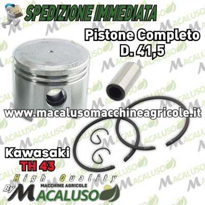 Pistone adattabile decespugliatore Kawasaki TH43 d 41,5 gruppo termico th 43