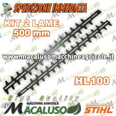 "Kit lame di 500mm/20"" tagliasiepi Stihl HL135 HG100 HEL600 KM135 42307106053"