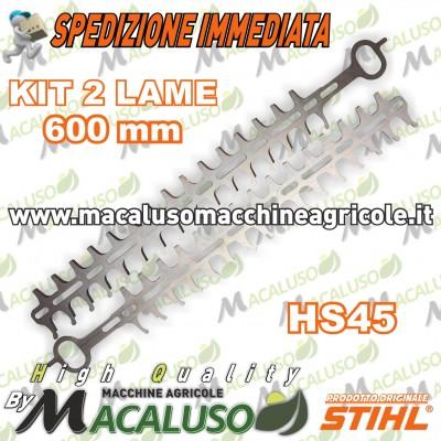 """Coppia lame 600 mm / 24"""" tagliasiepi Stihl HS45 tosasiepi 42287106051"""