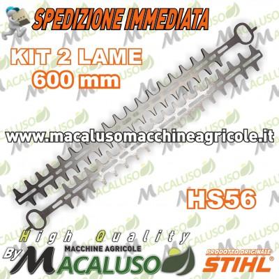 """Coppia lame 600 mm / 24"""" tagliasiepi Stihl HS56 tosasiepi 42427106002"""