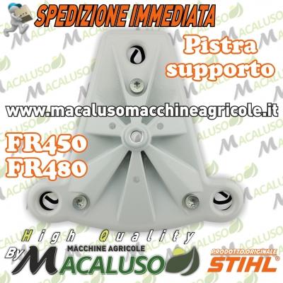 Piastra supporto motore decespugliatore spalleggiato Stihl FR350 FR450 FR480 carter inferiore 41287904506