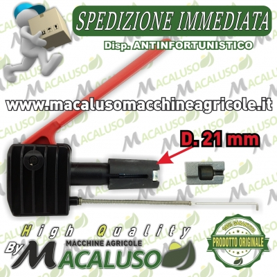 Dispositivo di sicurezza leva antinfortunistica motozappa benassi brumi barbieri bussola 21 mm