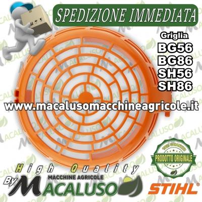 Carter protezione ventola soffiatore aspiratore Stihl BG56 BG86 SH56 SH86 griglia plastica arancione 42417068000