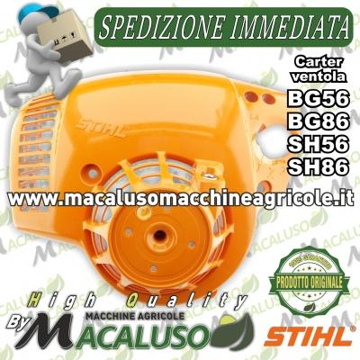 Carenatura ventola soffiatore aspiratore Stihl BG56 BG86 SH56 SH86 carter avviamento 42410801804