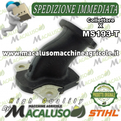 Collettore aspirazione motosega Stihl MS193T MS193TC 11371402501 manicotto elastico