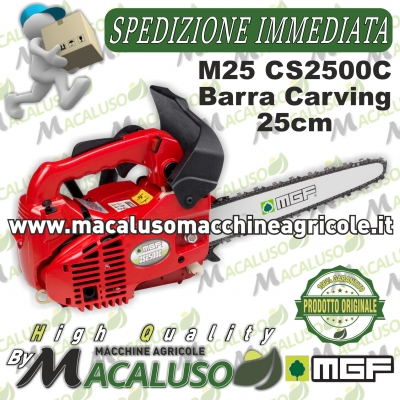 Motosega MGF M25 barra catena carving potatura 25 centimetri