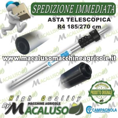 Asta Campagnola telescopica R4 cm.185-270 in alluminio per Alice e Elektra R165.0103