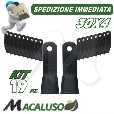 38 Zappette curva x trincia 30x4 zappa zappetta fresa lama kit serie
