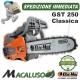 Motosega Oleo Mac GST 250 barra classica catena efco potatura mtt 2500 gts250