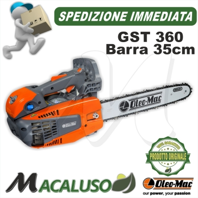 Motosega Oleo Mac GST 360 barra cm 35 catena efco mtt3600 potatura gts360 oleo-mac