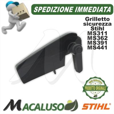 Levetta arresto blocco acceleratore motosega Stihl MS311 MS362 MS391 MS441 11381820800