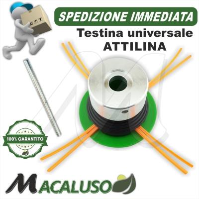 Testina universale ATTILINA 4 fori x decespugliatore nylon attila porta filo portafilo