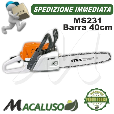 Motosega Stihl MS231 barra cm 40 catena 1,6 mm PROFESSIONALE