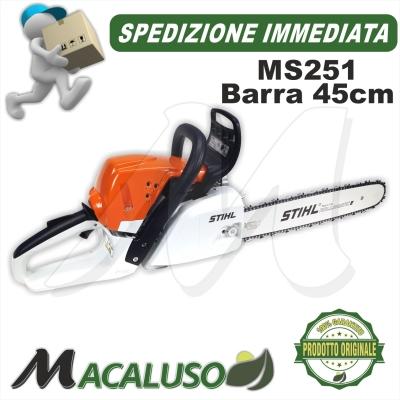Motosega Stihl MS251 barra cm 45 catena 1,6 mm BOSCAIOLO PROFESSIONALE
