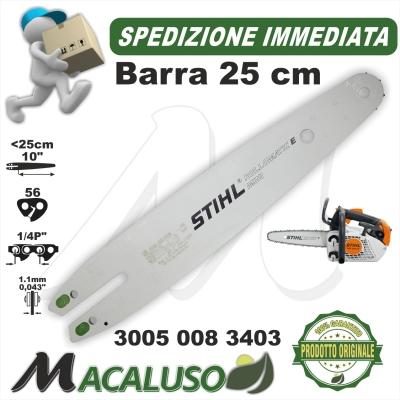 "Barra Stihl 10"" per motosega MS150T passo 1/4 da mm.1,1 maglie 56 art.30050083403 spranga"