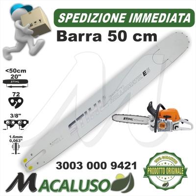 """Barra Stihl 20"""" Cm.50 per motosega MS290 passo 3/8"""" da mm.1,6 maglie 72 art.30030009421 spranga"""