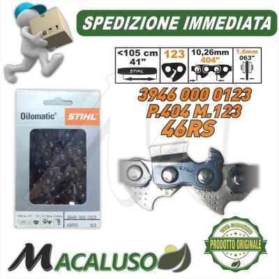 Catena Stihl x motosega Passo 404 sp.1,6 maglie 123 barra spranga 39460000123