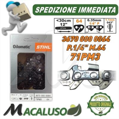 Catena Stihl Passo 1/4 sp.1,1 maglie 64 motosega MS150TC 36700000064