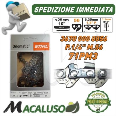 Catena Stihl Passo 1/4 sp.1,1 maglie 56 motosega MS150TC 36700000056