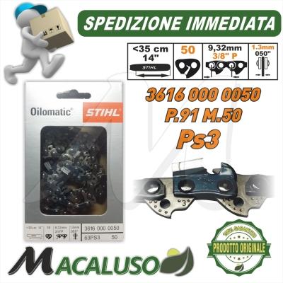 Catena Stihl PS3 Passo 3/8 P sp.1,3 maglie 50 motosega barra spranga 36160000050