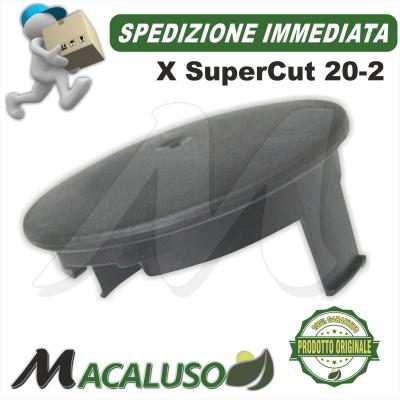 Coperchio inferiore plastica Stihl testina SuperCut 20-2 portafilo nylon 40027139715
