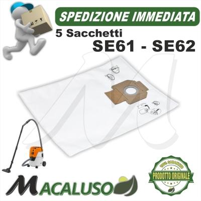 Kit 5 sacchetti per aspirapolvere Stihl SE61 - 61E