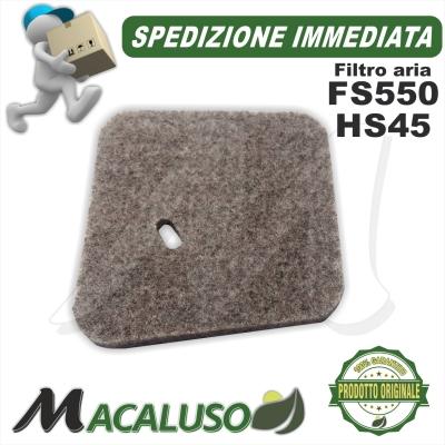Filtro aria per decespugliatori Stihl FS55 Tagliasiepi HS45 41401242800