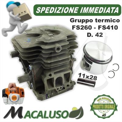 Cilindro pistone Stihl decespugliatore FS260 FS260R FS410 d. 42 gruppo termico 41470201207