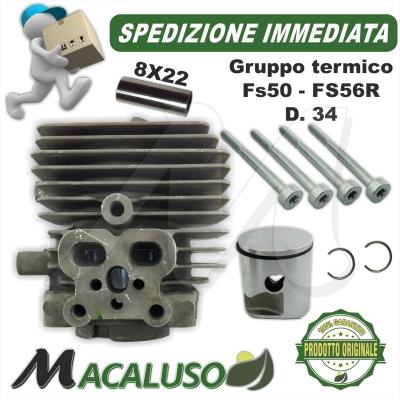 Cilindro pistone decespugliatore Stihl FS40 FS50 FS56R d. 34 gruppo termico 41440201200