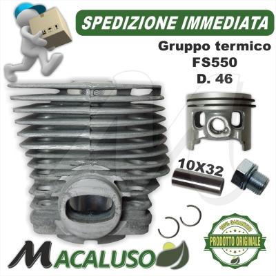 Cilindro pistone decespugliatore Stihl FS420 FS550 d. 46 gruppo termico spinotto 10 mm 41160201215