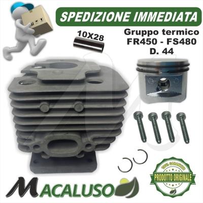 Cilindro pistone decespugliatore Stihl FS480 d.44 41280201202