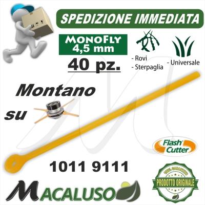 Filo lamella monofly testina Flash Cutter Qfc10 4,5 pezzi 40 decespugliatore lama nylon ricambio 10119111
