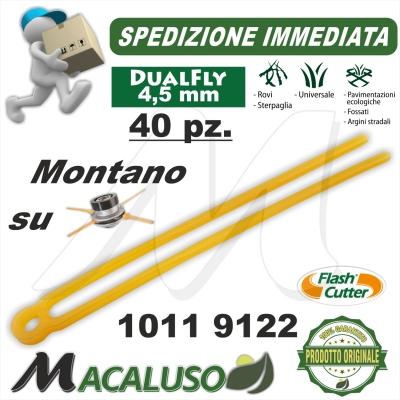 Filo lamella dualfly testina Flash Cutter Qfc10 4,5 pezzi 40 decespugliatore lama nylon ricambio 10119122