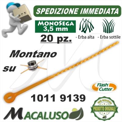 Filo lamella monosega testina Flash Cutter Qfc10 3,5 pezzi 20 decespugliatore lama nylon ricambio 10119139