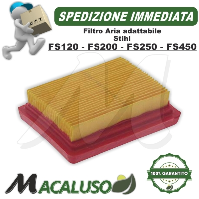 Filtro aria adattabile decespuglitore Stihl FS120 FS200 FS250 FS350 FS450 FR450 FS480