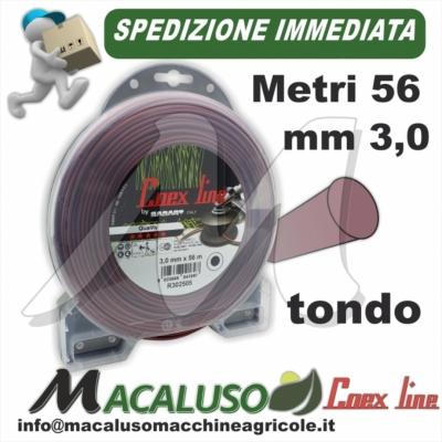 Filo nylon decespugliatore Coex Line Tondo mm.3,0 x 56 metri PROFESSIONALE