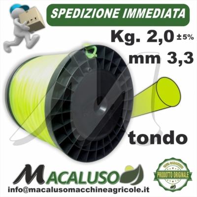 Filo nylon decespugliatore Tondo mm 3,3 Kg 2 uso professionale