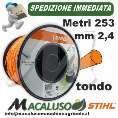 Filo nylon Stihl tondo arancio mm. 2,4 x 253 mt. 00009302246 decespugliatore