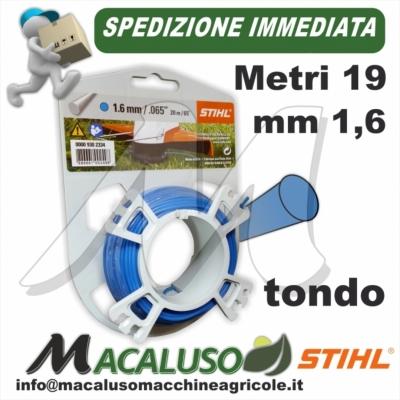 Filo nylon Stihl tondo blu mm 1,6 x 19 mt. 00009302334 decespugliatore