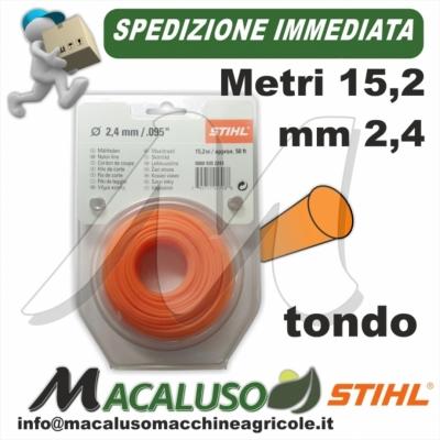 Filo nylon Stihl tondo mm.2,4 x 15,2 mt. 00009302243 decespugliatore